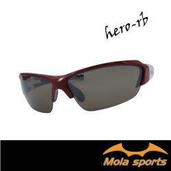 MOLA摩拉運動太陽眼鏡 Hero-rb UV400 男女可戴 頂級耐磨鏡片 茶色