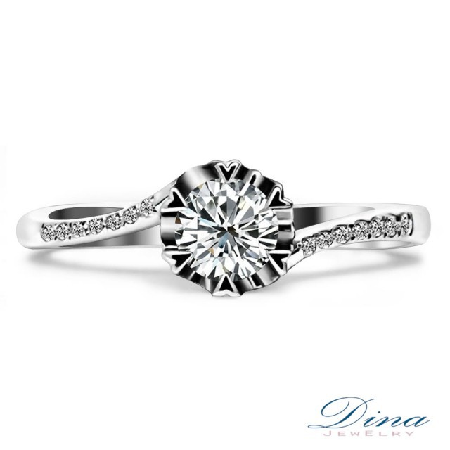 【DINA 蒂娜珠寶】蜜意 GIA 0.50克拉 F/VS1 鑽石求婚女戒