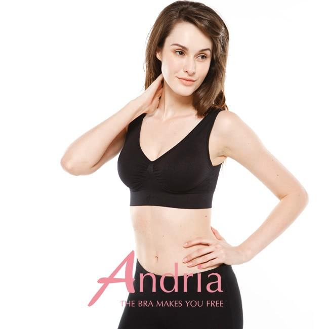 【Andria安卓亞】超輕感美胸無痕內衣-黑
