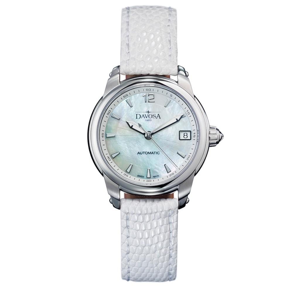 DAVOSA Ladies Delight 系列 經典時尚腕錶-白x白色錶帶/34mm 市價$34,300