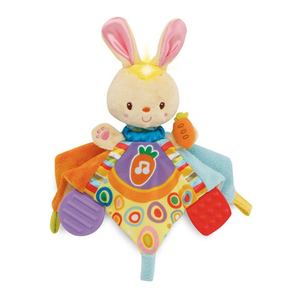 【麗兒采家】Vtech 寶貝兔音樂安撫巾