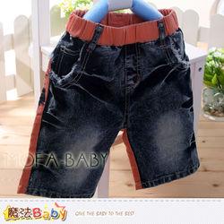 男童裝~牛仔短褲~魔法BABY~k33359