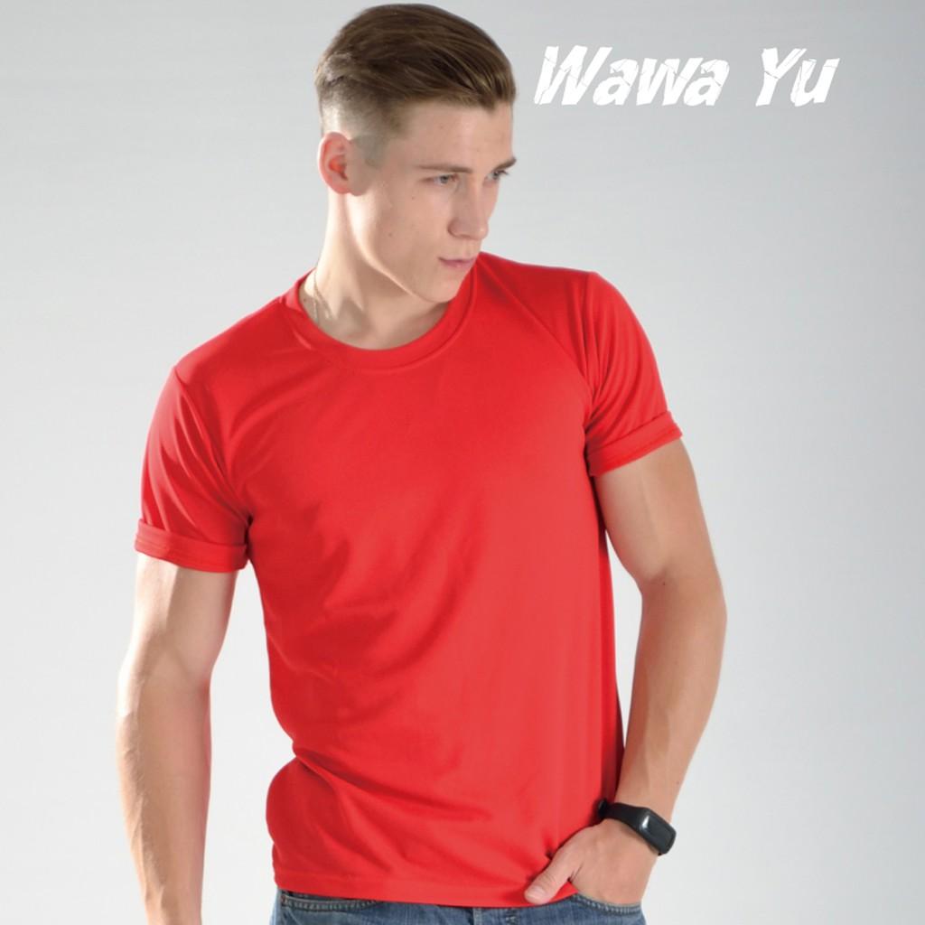 素色T恤-紅色-男版 (尺碼XS-3XL) [Wawa Yu品牌服飾]