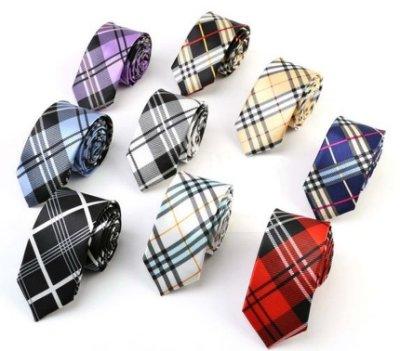 領帶╭☆°安可來福*領帶蘇格紋手打5cm窄版領帶格子領帶型男上班學生必備窄版領帶,售價69元