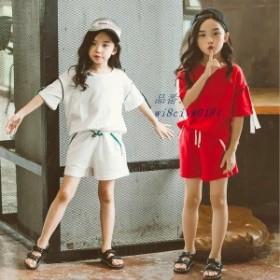 子供服 セットアップ キッズ 女の子 セットアップ 女の子 韓国子供服 短パン 夏 子供服 ショートパンツ 半袖 上下セット トップス