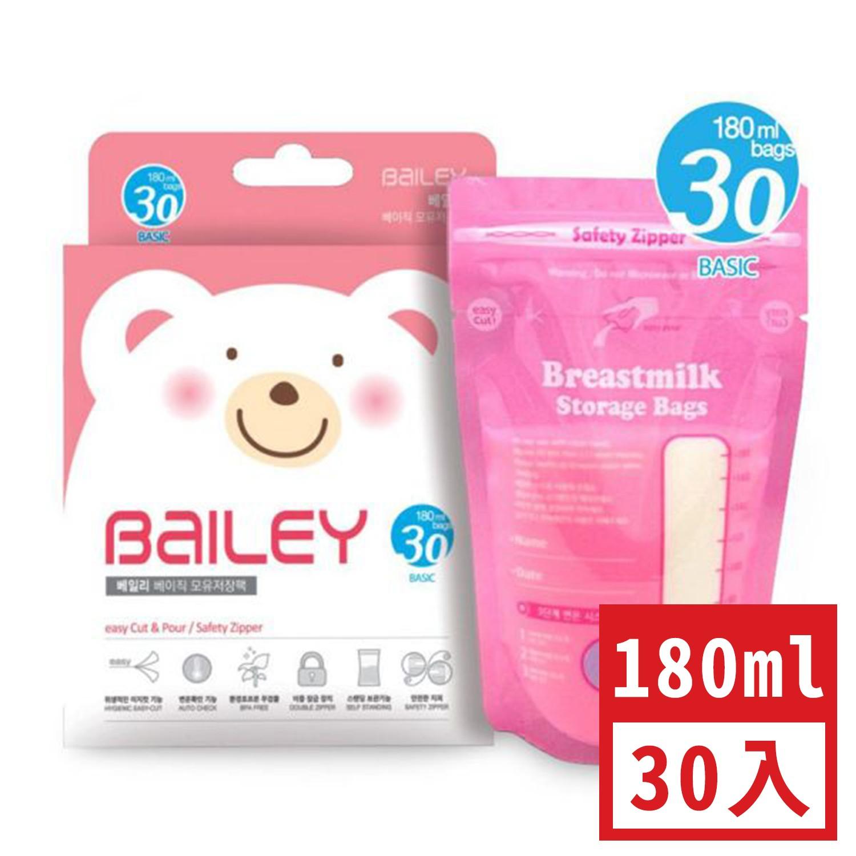 韓國 BAILEY 貝睿 - 感溫母乳儲存袋-基本型 (180ml)-30入