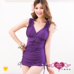 天使霓裳 優戀盛夏 一件式連身泳衣(深紫M~XL) SQ3026