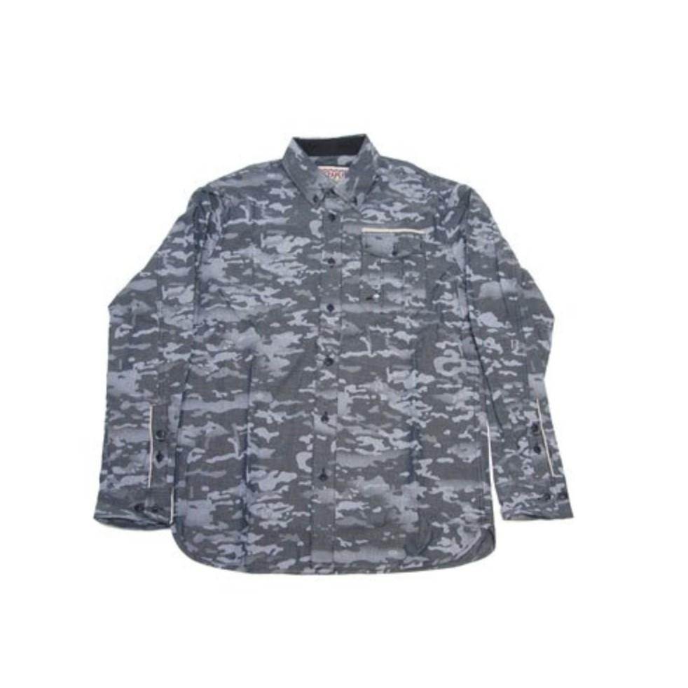 STAPLE 藍迷彩 長袖 襯衫 鴿子 LOGO【 GIANT MALL 】