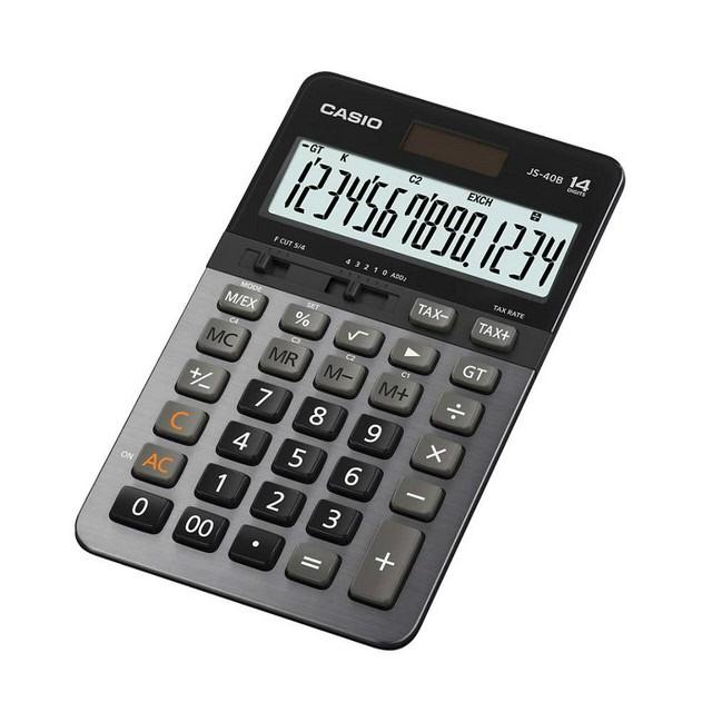 【CASIO卡西歐】14位數商用型計算機/JS-40B