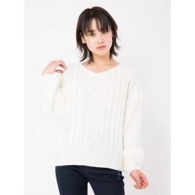 ニット・セーター - CECIL McBEE 袖シャギーニット