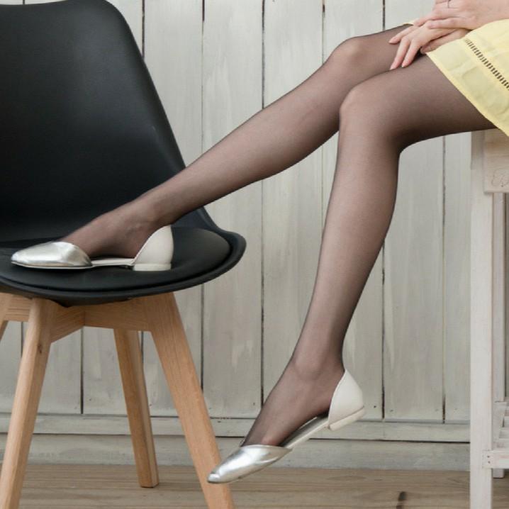 絲襪 日系超薄蝴蝶檔透膚褲襪絲襪(黑色)