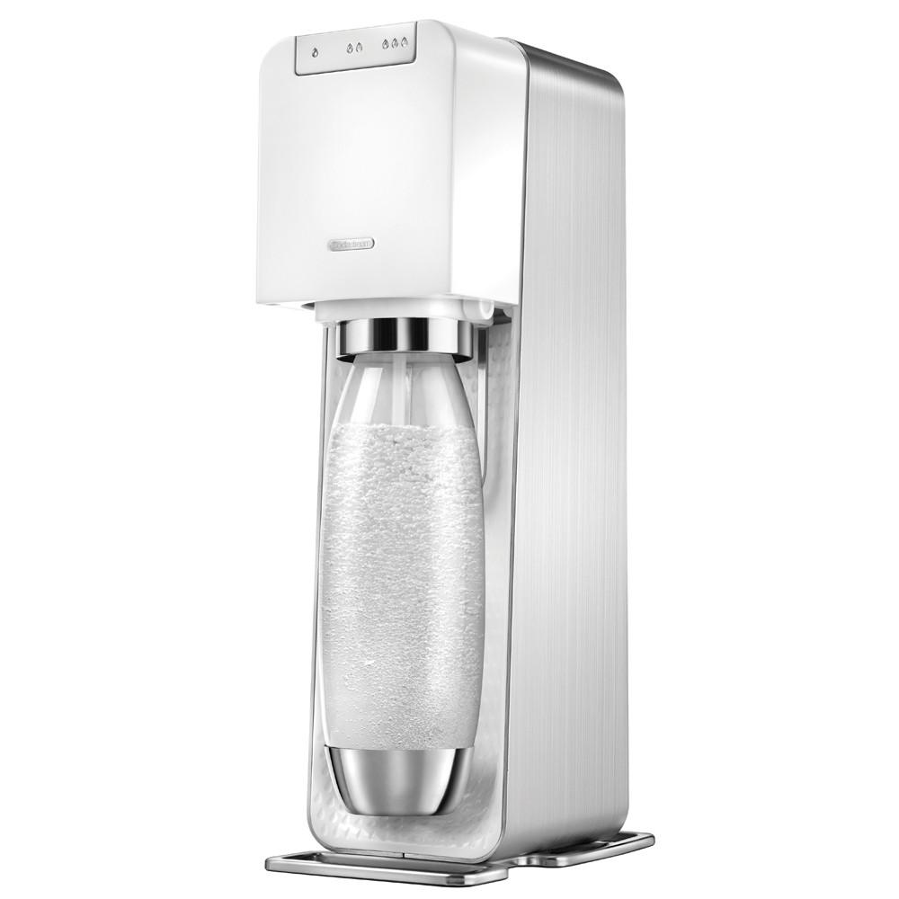 Sodastream電動式氣泡水機POWER SOURCE旗艦機(白)【贈原廠檸檬糖漿】