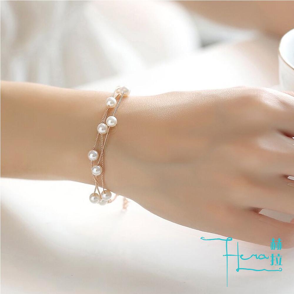 hera 赫拉韓版時尚 珍珠手鍊 甜美清新 簡約飾品 手鍊 裝飾品