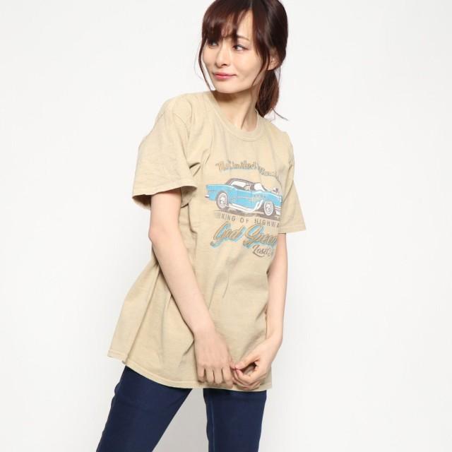 ファクターイコール Factor= アメ車プリントTシャツ (BEG)
