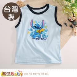 魔法Baby 男童背心(2件一組) 台灣製迪士尼史迪奇正版居家服~k51177