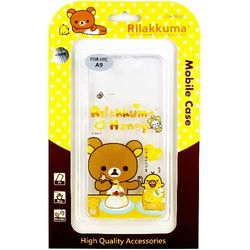 Rilakkuma 拉拉熊 HTC One A9 彩繪透明保護軟套-吃點心