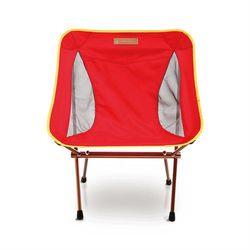 【OutdoorBase】AMOEBA 阿米巴 航太鋁合金 輕便 休閒 折疊 椅(附收納袋) 紅 25704