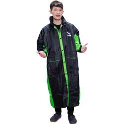 新二代 JUMP新帥前開式休閒風雨衣 綠黑+通用鞋套