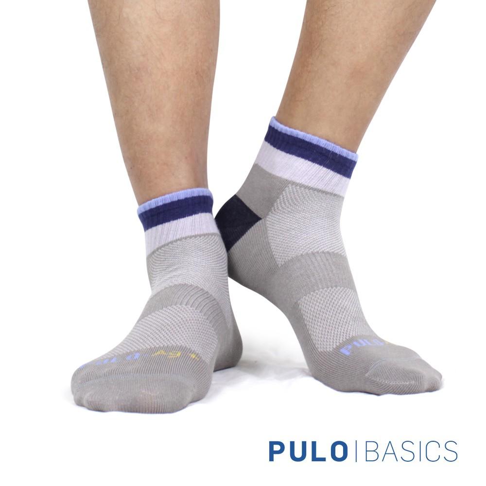 PULO-穿立淨除臭拼接色塊短襪