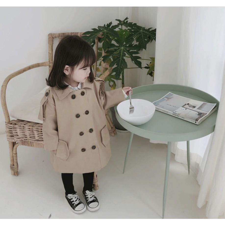 母嬰 新款 男女寶寶韓版中性款風衣外套批發時尚舒適百搭中長款風衣外套母婴