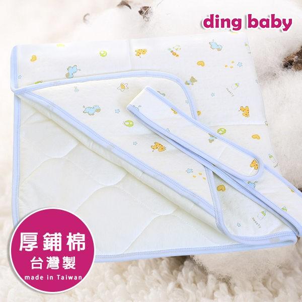 ding baby 寵愛寶貝鋪棉包巾-藍 C-4712928921805