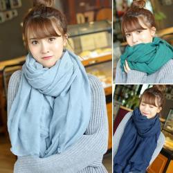 棉花甜-(買一送一)素色圍巾