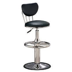 傢俱屋 奇圓電金圓盤吧台椅(黑*綠*藍*咖啡*高)