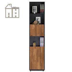 【AT HOME】布拉格1.35尺柚木雙色下開門書櫃
