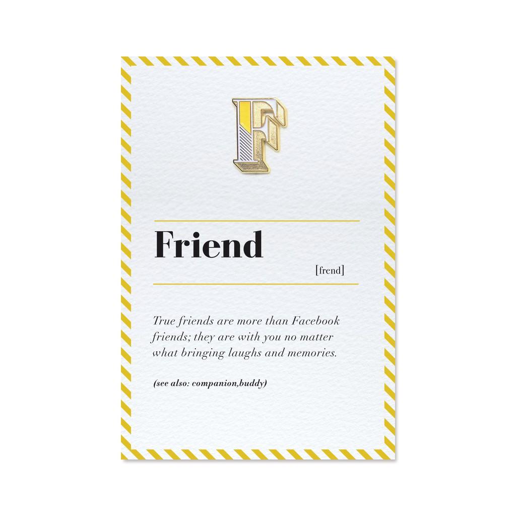 【 F/ Friend 】琺瑯徽章字母飾品卡