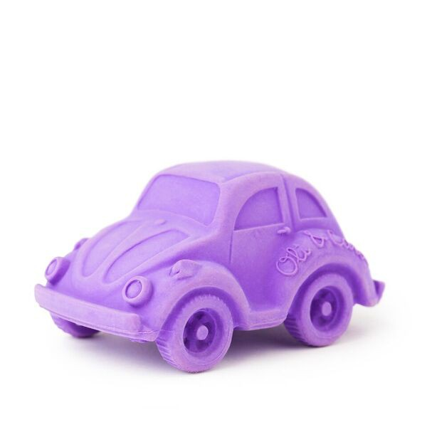 西班牙 Oli & Carol -摩登小金龜車-紫色 天然無毒橡膠玩具