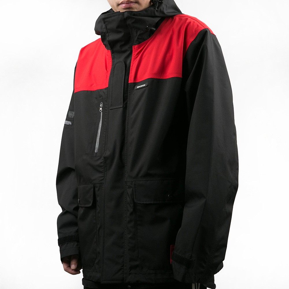 REPUTATION Deluxe Functional / D - COAT.AW - 頂級登山防水外套 / 黑x紅