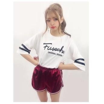 SPIGA 袖テープラインロゴTシャツ シロ