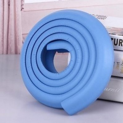 (淺藍色) 2米加厚 贈4米3M膠帶 嬰兒安全防撞條 防撞角 幼兒園防護條 安全用品