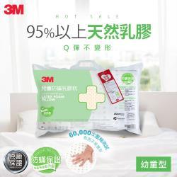 3M 天然乳膠防蹣枕-附防蹣枕套(適用3~6歲幼童)