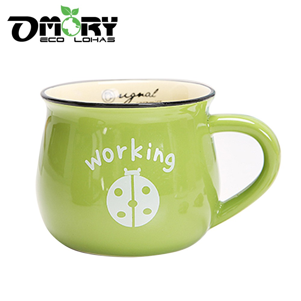 【OMORY】動物陶瓷咖啡牛奶馬克杯410ml-隨機1入