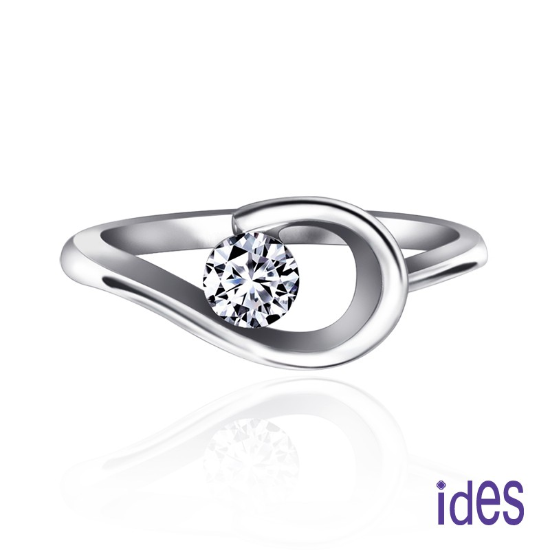 ides愛蒂思鑽石 30分E/VS1八心八箭完美3EX車工鑽石戒指/求婚結婚戒/環抱