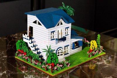 ☆伊思模兒☆DIY小屋 袖珍屋 娃娃屋 手工藝模型屋 材料包 禮物 農邊小屋 13015休閒小住