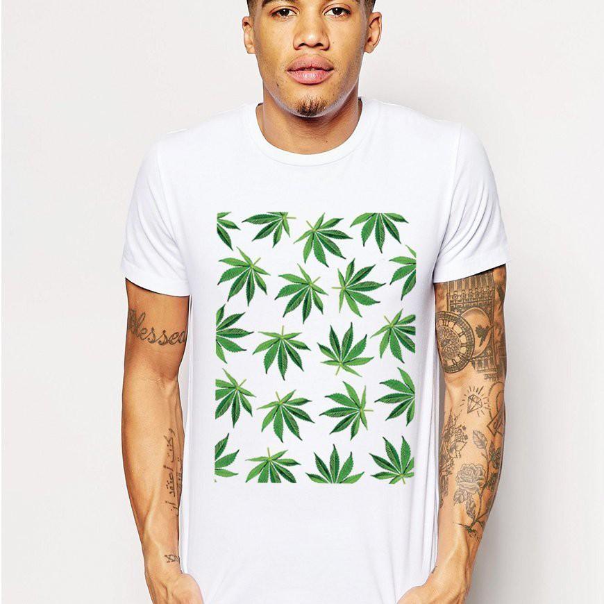 【快速出貨】Cannabis Leaf 短T 白色 滑板街頭刺青設計插畫潮T大麻葉班服團體服活動