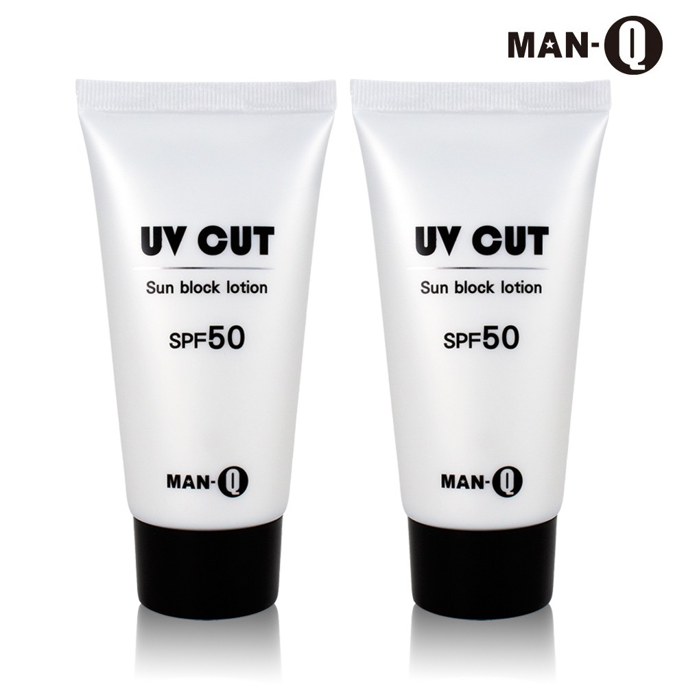 [滿額贈]【MAN-Q】極效舒活防曬水乳液(SPF50)80gx2瓶臉部 身體適用免運 加送MAN-Q髮雕200g*1罐