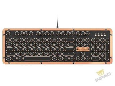 *硬派精璽* AZIO Retro Classic 頂級復古機械式鍵盤|黑金色英文 000270000030