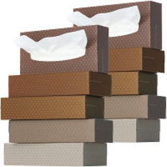 ティッシュペーパー 200組 (5箱入) オリジナルティッシュ MOCHA (モカ) 5colors 1セット(2パック) アスクル