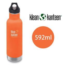 美國Klean Kanteen窄口不鏽鋼保溫瓶 592ml 山夕橘