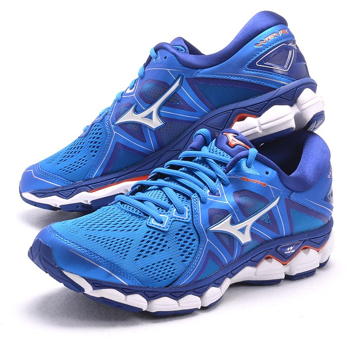 MIZUNO 18FW 頂級 緩衝 男慢跑鞋 WAVE SKY 2系列 D楦 J1GC180203 贈腿套