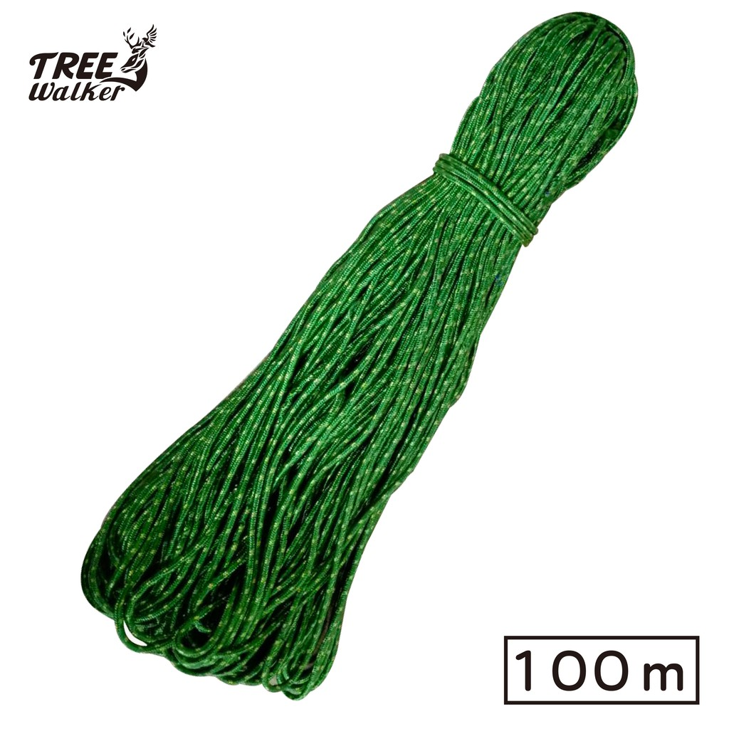 【Treewalker露遊】強力營繩 PP繩 帳篷 營釘 長度約100米 新款圓型繩 多色促銷350