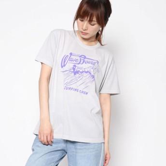 ファクターイコール Factor= ビーチプリントTシャツ (GRY)