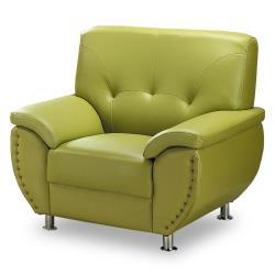 【時尚屋】[MT7]亞摩斯單人座綠色沙發MT7-311-10免組裝/免運費/沙發