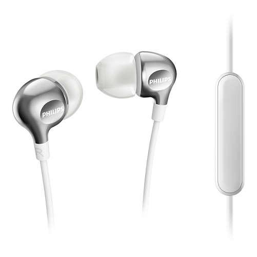 PHILIPS SHE3705WT 銀白-耳機麥克風 (入耳式)