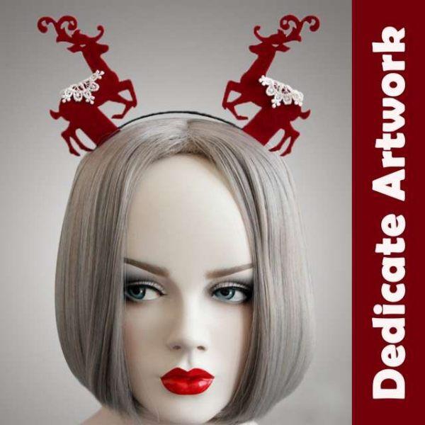 心可樂活-質感蕾絲聖誕麋鹿造型髮箍 MX70217050