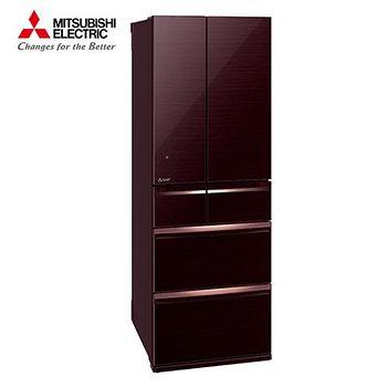 MITSUBISHI 三菱 525L 1級變頻6門電冰箱 MR-WX53C-BR 水晶棕