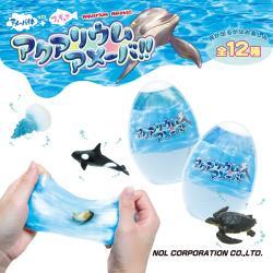 日本NOL-海洋動物水黏土X6-內含海洋動物公仔(共12款 採隨機出貨)